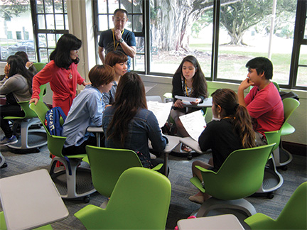 OWJC students participate in JPNS 102: Elementary Japanese II class – Dutches Richards