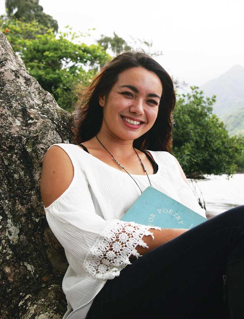Poet, writer and Windward Community College student Ashley Shankles (a.k.a, Ashley Nakanishi) – Patrick Hascall