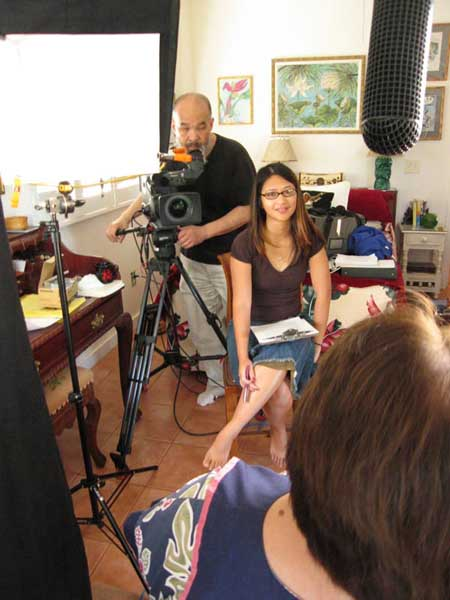 Journalism instructor Kimberlee Bassford conducts an interview for her 2008 PBS documentary Patsy Mink: Ahead of the Majority – Courtesy of Kimberlee Bassford